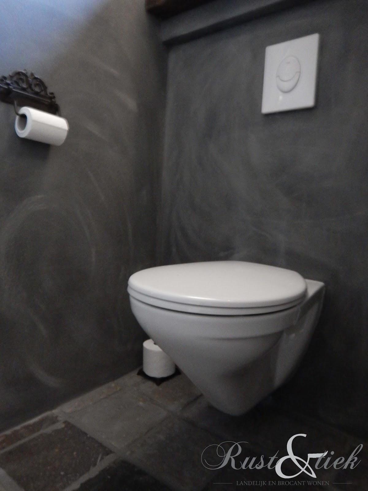 Rust en tiek toilet met betonlook van mia colore - Stijl van toilet ...