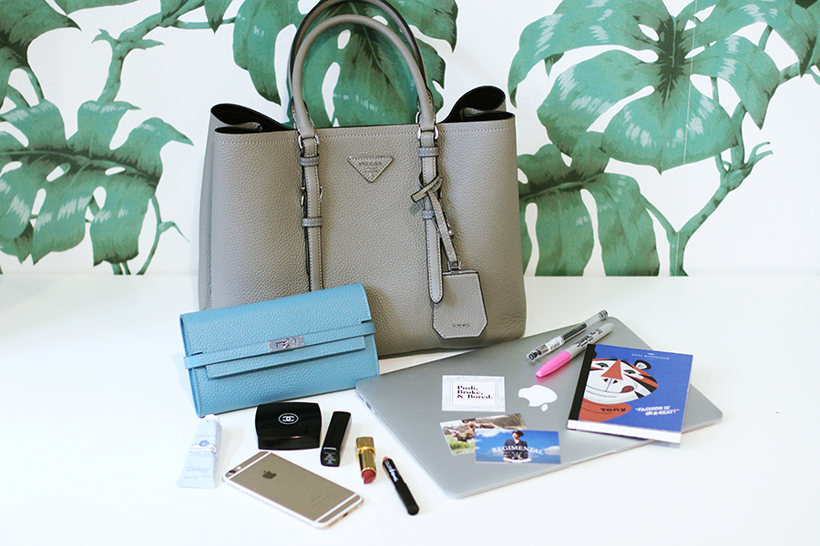 What's In My Handbag: Prada Saffiano Cuir - Posh, Broke, & Bored