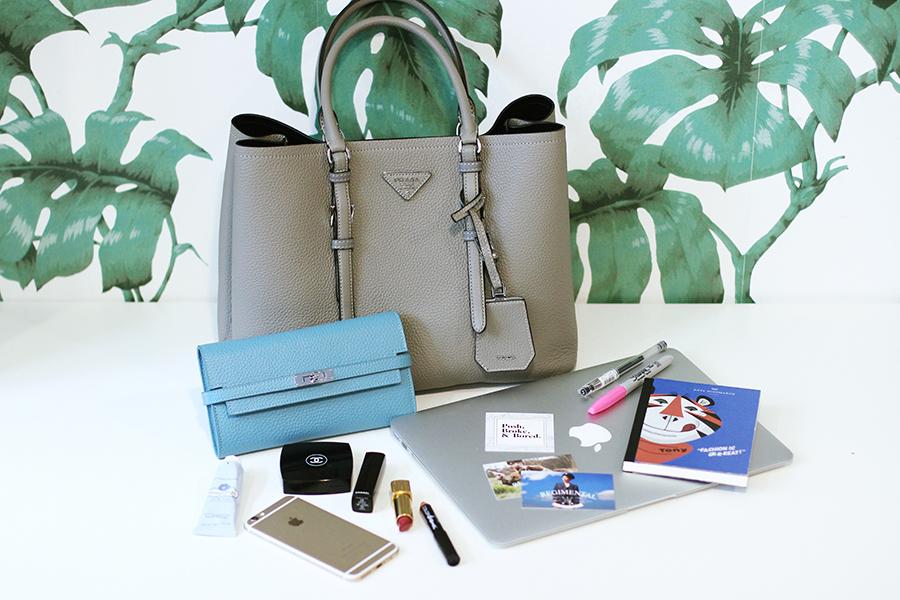 What's In My Handbag: Prada Saffiano Cuir - Posh, Broke, & Bored