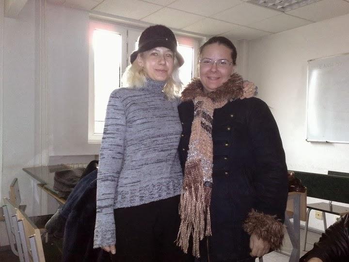Olivia Marcov si Mihaela Milos, anul IV, iarna 2008, sala 500, Ion Ghica 13