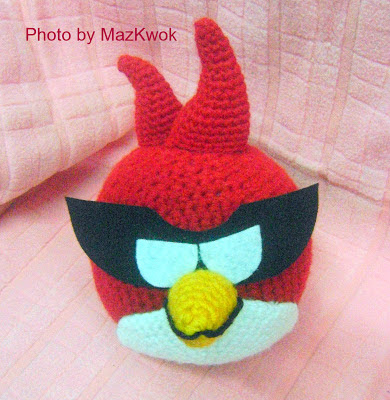 crochet red angry bird