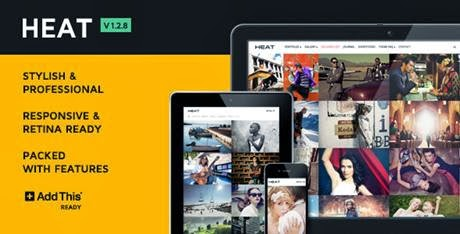 Heat Premium Portfolio WordPress Theme-bwtemplate blogs