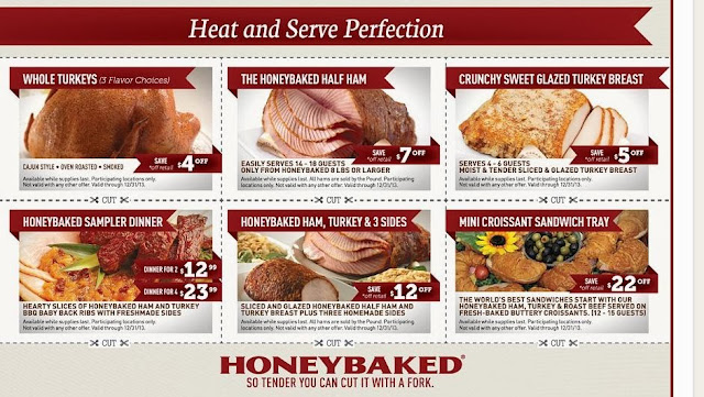 Honey baked ham discount coupons