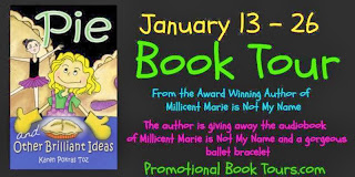 http://www.promotionalbooktours.com/2013/12/pie-and-other-brilliant-ideas-by-karen-pokras-toz/