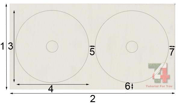cara print label cd