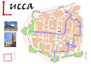 Plano de la audioguía de Lucca
