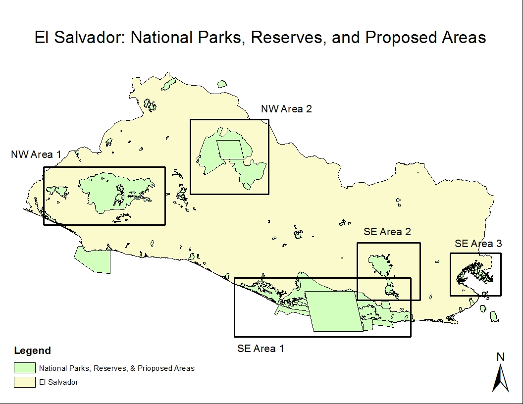 lists of parks status and designated areas