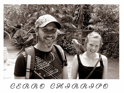 Wedding postcard and table name - Cerro Chirripo