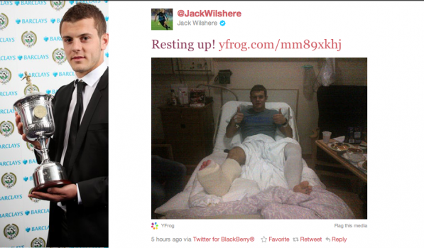 Jack Wilshere out for 5 months after successful surgery
