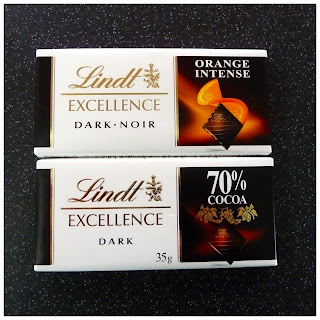 Lindt Excellence Dark Chocolate Range Intense Orange