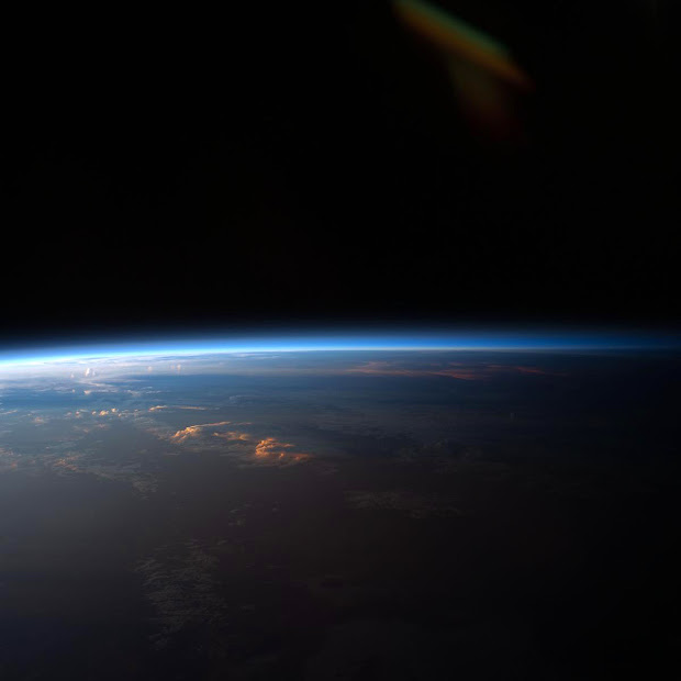 Gorgeous Sunset over South America from aboard the ISS