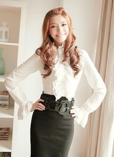 modelo de blusa social com babado 03