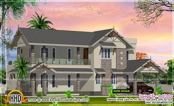 House plan sloping roof
