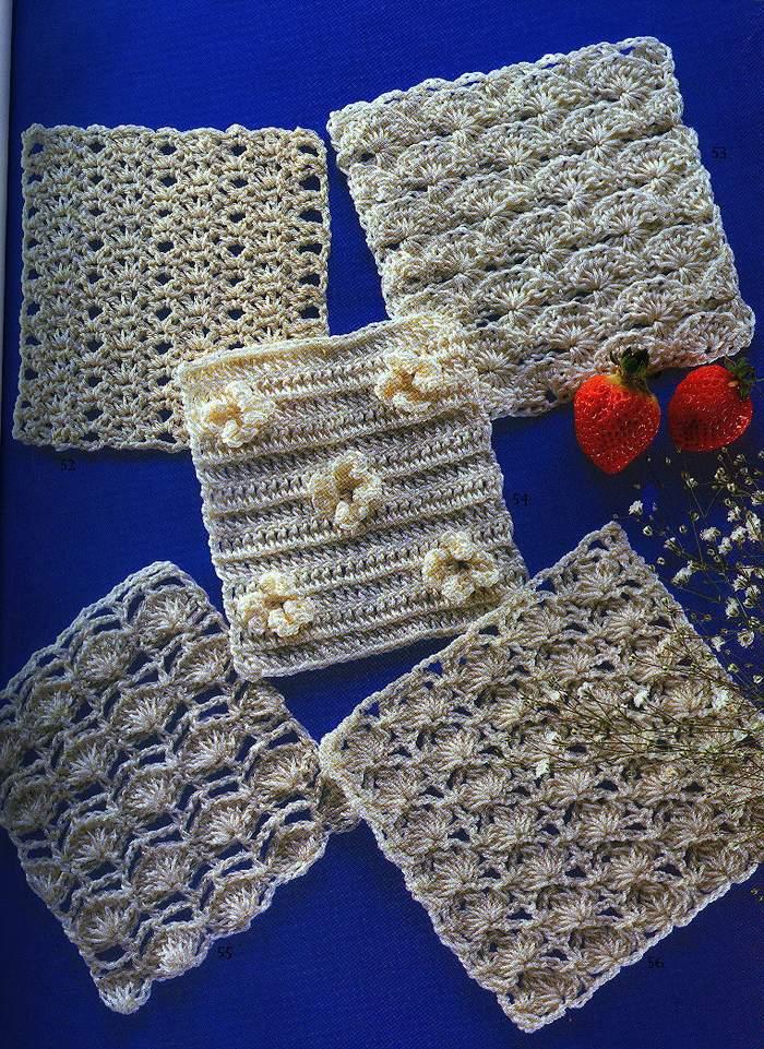 Solo puntos crochet esquemas - Esquema punto estrella crochet ...