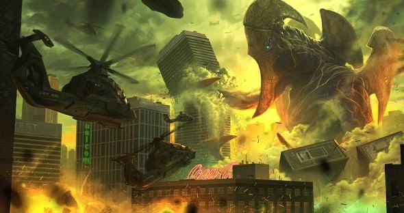 Hugo Martin ilustrações arte conceitual filmes games fantasia ficção científica Arte conceitual de Pacific Rim - Kaiju