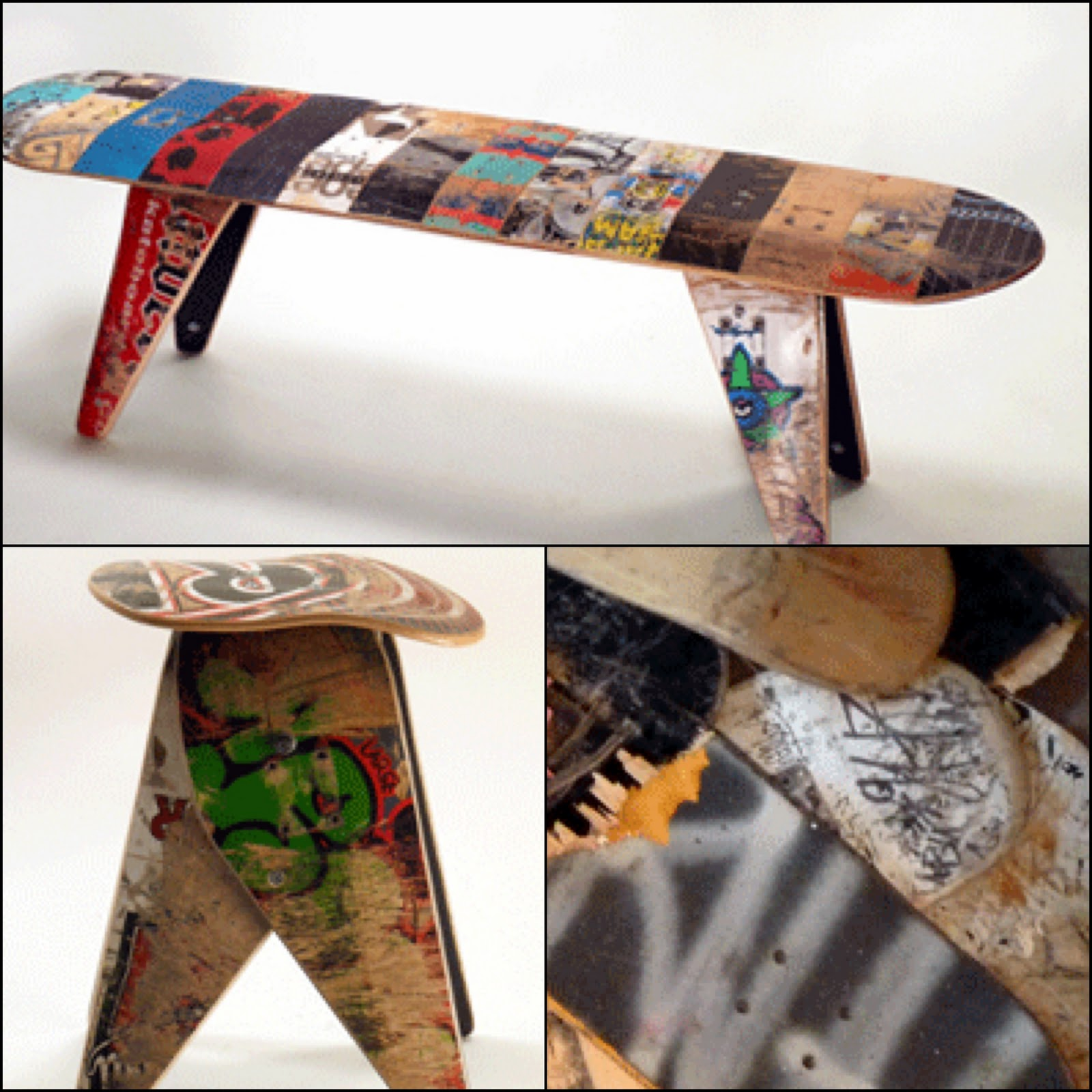 Deckstool Recycled Skateboards Furniture