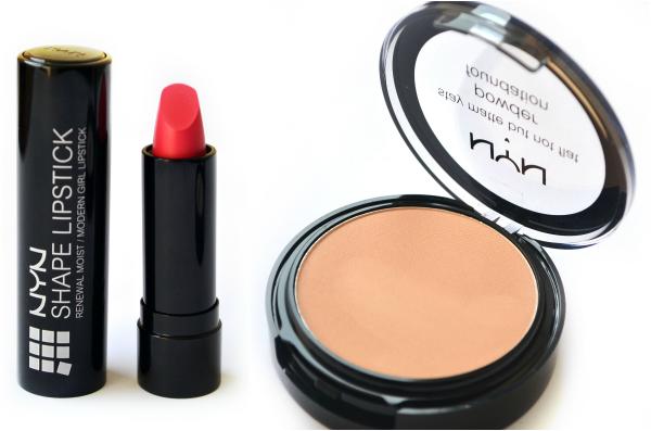 NYN Cosmetics - Shape Lipstick & Stay matte but not flat Face Powder