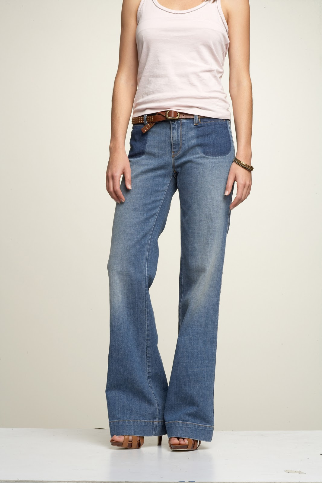 Vintage Two Tone Flare Jean -