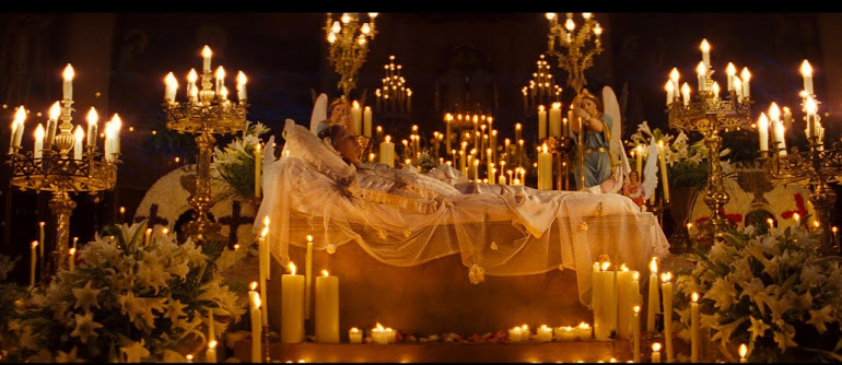 death scene from baz luhrmann's 'romeo and juliet'