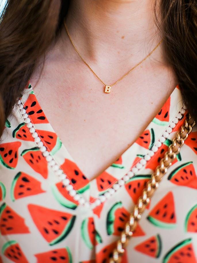 Nadri gold initial necklace