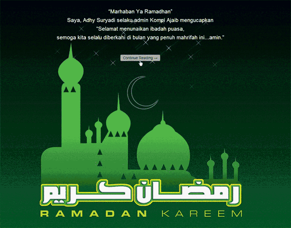 Membuat Pesan Pembuka Ramadhan Ketika Masuk Blog