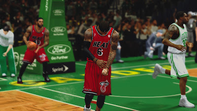 NBA 2K13 Miami Heat Classic Red Uniform NBA2K Mods