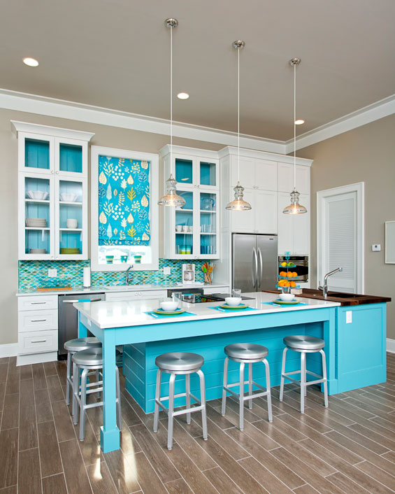 Teal And White Kitchen Ideas Quicua