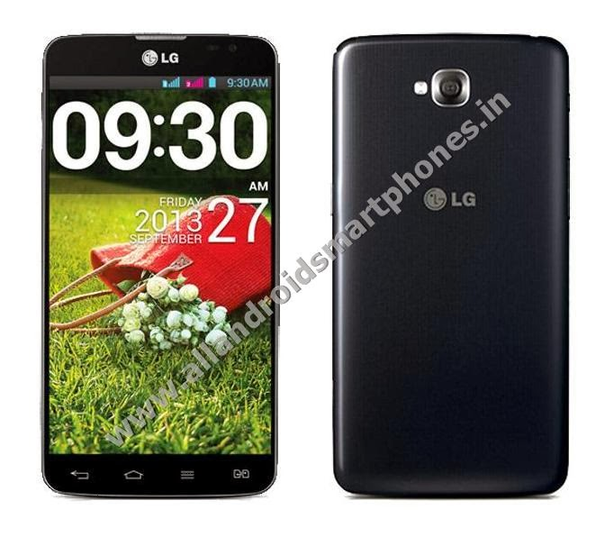 LG Pro Lite Dual D686 Android 3G Phablet Black Front Back Images Photos Review