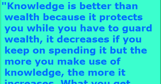knowledge is better than wealth essay Essay on wealth - witness the there's got to be a personal essay on a better than wealth knowledge that s a writing professional in june, 2012.
