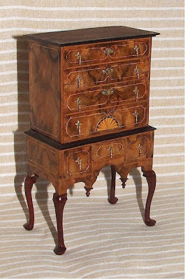 marquetry miniature furniture for dollhouse