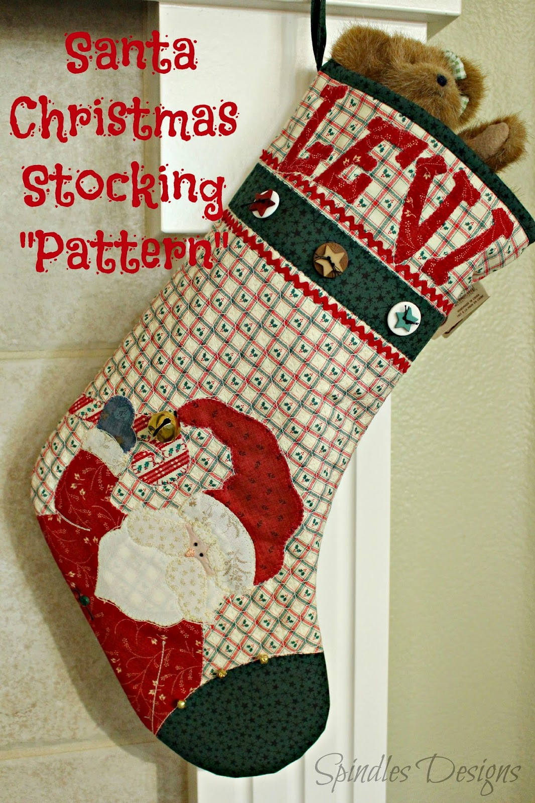 Santa Christmas Stocking Pattern