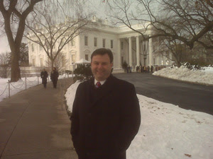 Jay Witter in front of the White House