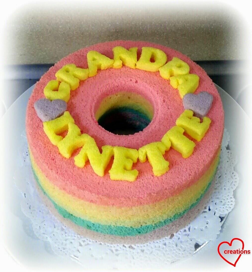 Pastel Rainbow Chiffon Cake