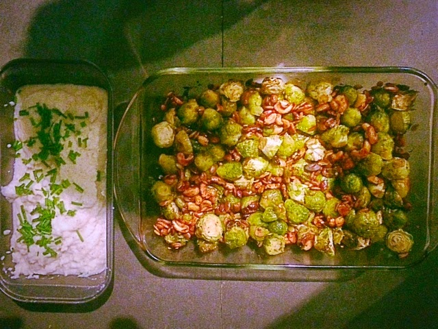 vrussel sporuts roasted recipe, mashed cauliflower recipe, mashed potatoes substitute, healthy mashed potatoes, healthy mashed cauliflower
