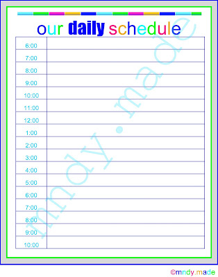 how to use a daily schedule for yourself