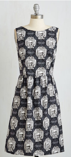 Love this vintage skull dress!