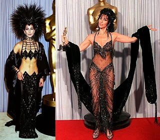 Cher in Bob Mackie outfits in the 1980's
