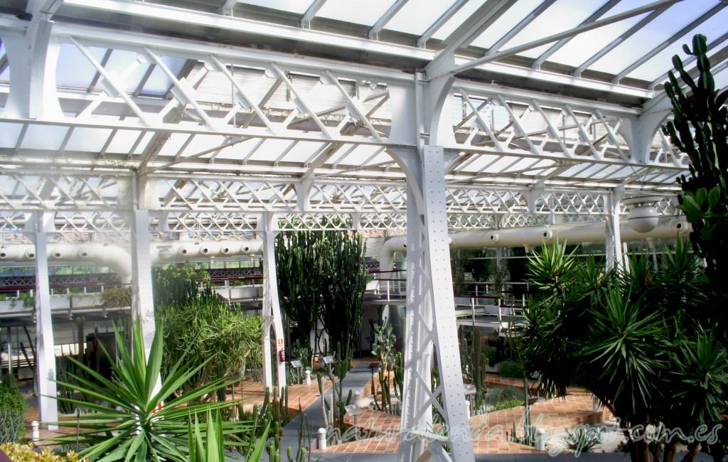 detalle estructura invernadero desertico