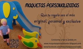 Tarjeta maquetas personalizadas - maqueta parque infantil