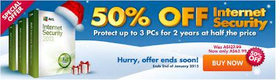 AVG Internet Security 2013 50% OFF