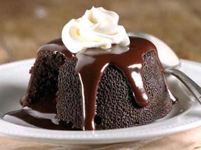 No-Bake Chocolate Molten Lava Cake