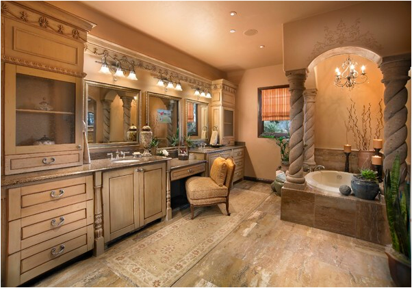 Tuscan bathroom design ideas exotic house interior designs for Tuscan design ideas