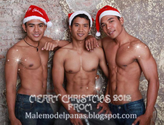 Happy holiday with male model