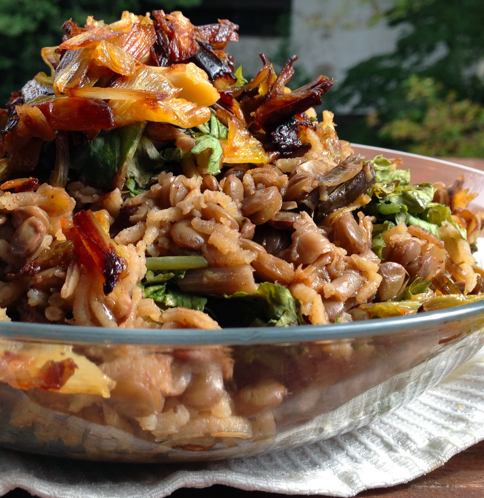 One-Pot Mujadara with Leeks and Kale • Holy Cow! Vegan Recipes