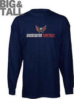 Big and Tall Washington Capitals Long Sleeve Shirt