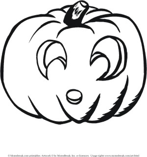 transmissionpress: 4 Picture of Cute Pumpkin Coloring Pages