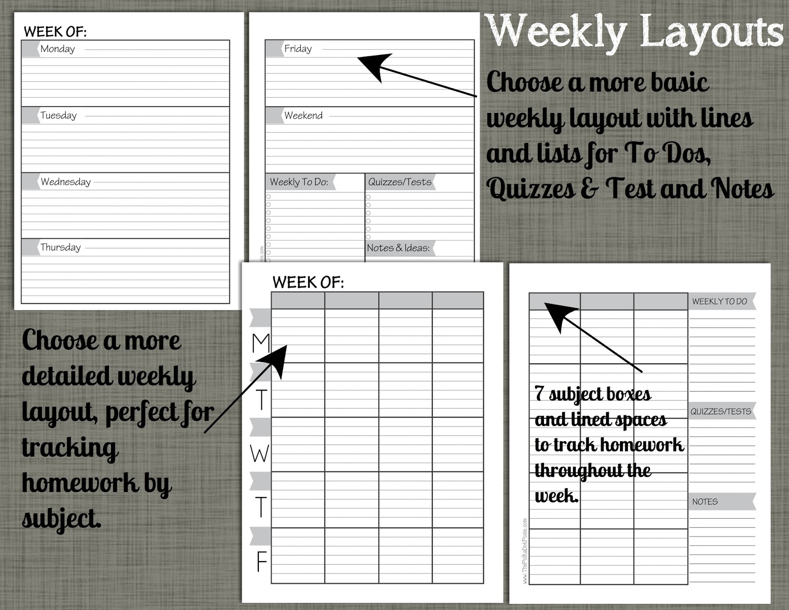 student weekly planner pdf
