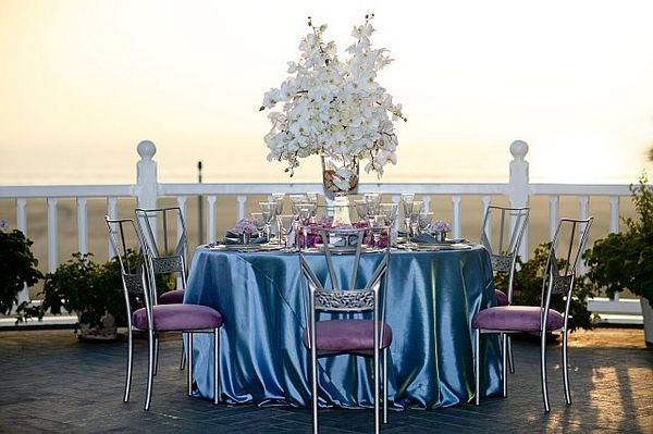 Soave Italian Wedding Lilac and Purple Table Decorations