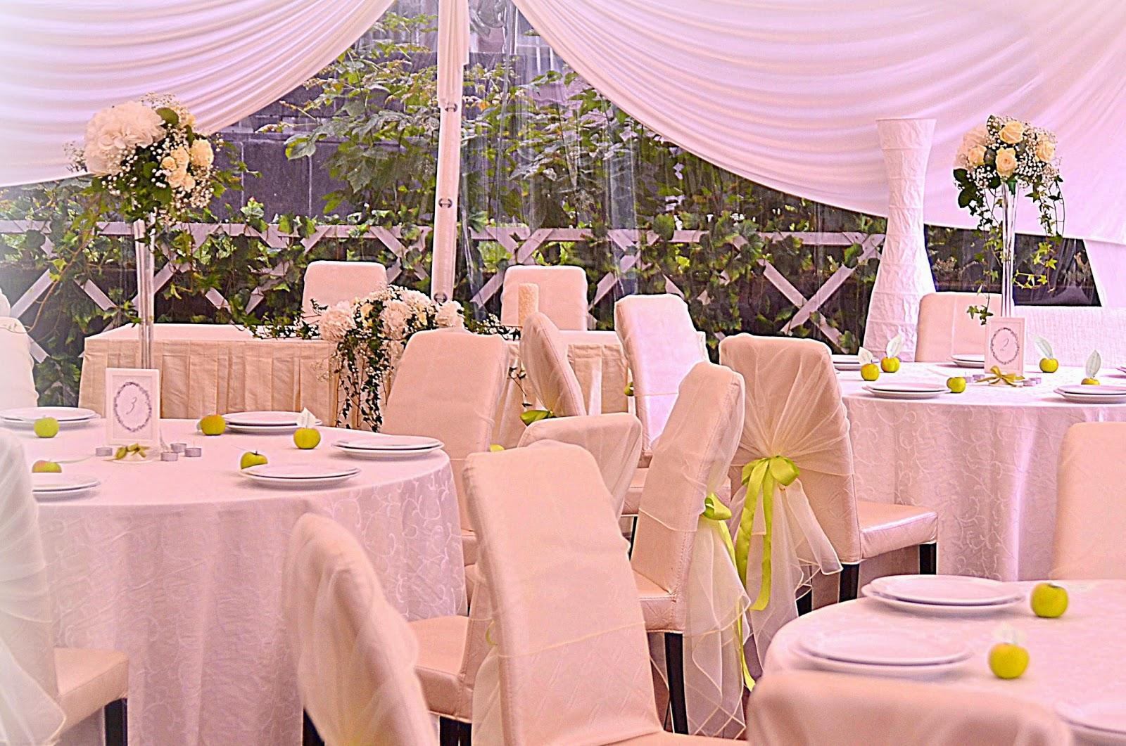 декор свадьбы цветами и тканью