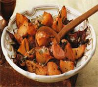 Fırında Kırmızı Soğanlı Patates Tarifi